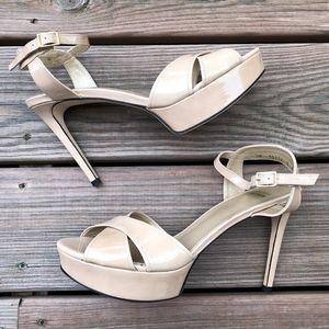 STUART WEITZMAN Nexus Platform Patent Sandals Heel